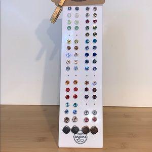 assorted Swarovski crystal studs